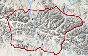 Overview of Eastern Alaska Range area