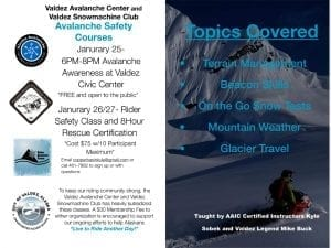 Flyer for Valdez Workshop