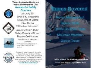 Flyer for Valdez Workshop